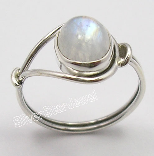 925 Sterling Silver OVAL RAINBOW MOONSTONE BESTSELLER Ring Any Size 4 1//2 to 12