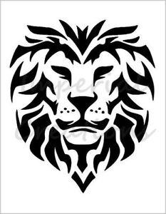 lion head cat wildcat king of jungle 8 5 x 11 stencil plastic rh ebay com stencil leon the professional