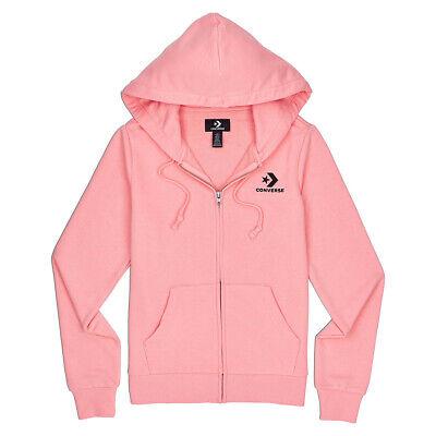 Converse Star Chevron Emb Fz Women's Hoodie Full Zip Pink | eBay