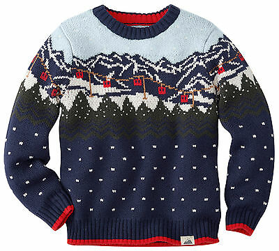 HANNA ANDERSSON Ski Norrland Sweater Navy 130 8 NWT