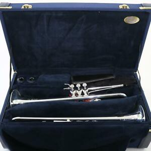 B-amp-S-Model-3116-2-Challenger-Professional-Eb-D-Two-Bell-Trumpet-MINT-CONDITION