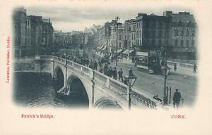 VINTAGE-PATRICK-039-S-BRIDGE-CORK-IRELAND-POSTCARD-Published-by-Lawrence-Dublin