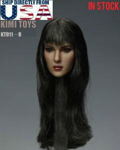 IN STOCK KIMI 1//6 Female Head Sculpt LONG Hair B for 12/'/' PHICEN body