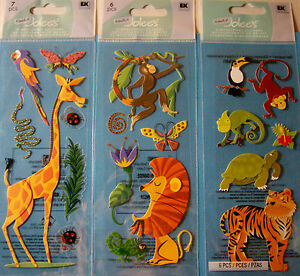 A Touch Of Jolee/'s Stickers Jungle Animals