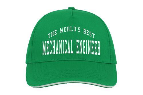World/'s Best Mechanical Engineer Baseball Hat Cap Gift Engineering Cool Job Work