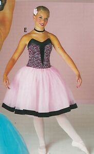 ROMANTIC-LENGTH-GIRLS-BALLET-DANCE-COSTUME-BLACK-TAPESTRY-GIRLS-INT-6X-7