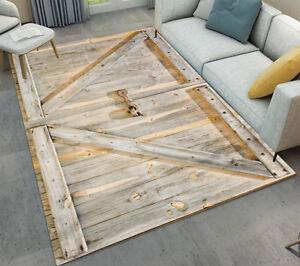 rustic empty living room carpet | Living Room Floor Mat Anti-skid Area Rug Rustic Barn Wood ...