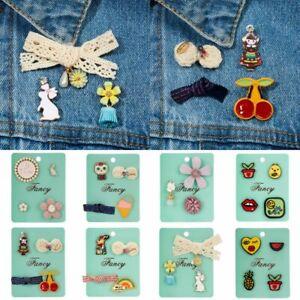 4pcs-set-Smile-Bow-knot-Flower-Animal-Enamel-Brooch-Pin-Collar-Badge-Jewellery