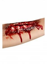 OPEN WOUND SCAR BLOODY FANCY DRESS LATEX HALLOWEEN MAKE UP MUTILATION