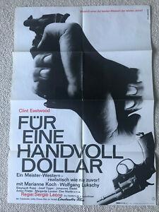 Clint Eastwood, Für eine Hand voll Dollar  - Original Filmplakat A1