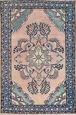 "80 Years Old Antique Muted Color 4x7 Hamedan Persian Oriental Rug 6' 6"" x 4' 3"""