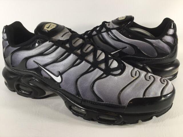 Nike Air Max Plus Tn Black Wolf Grey White Custom Mens Size 13 Rare 604133 076