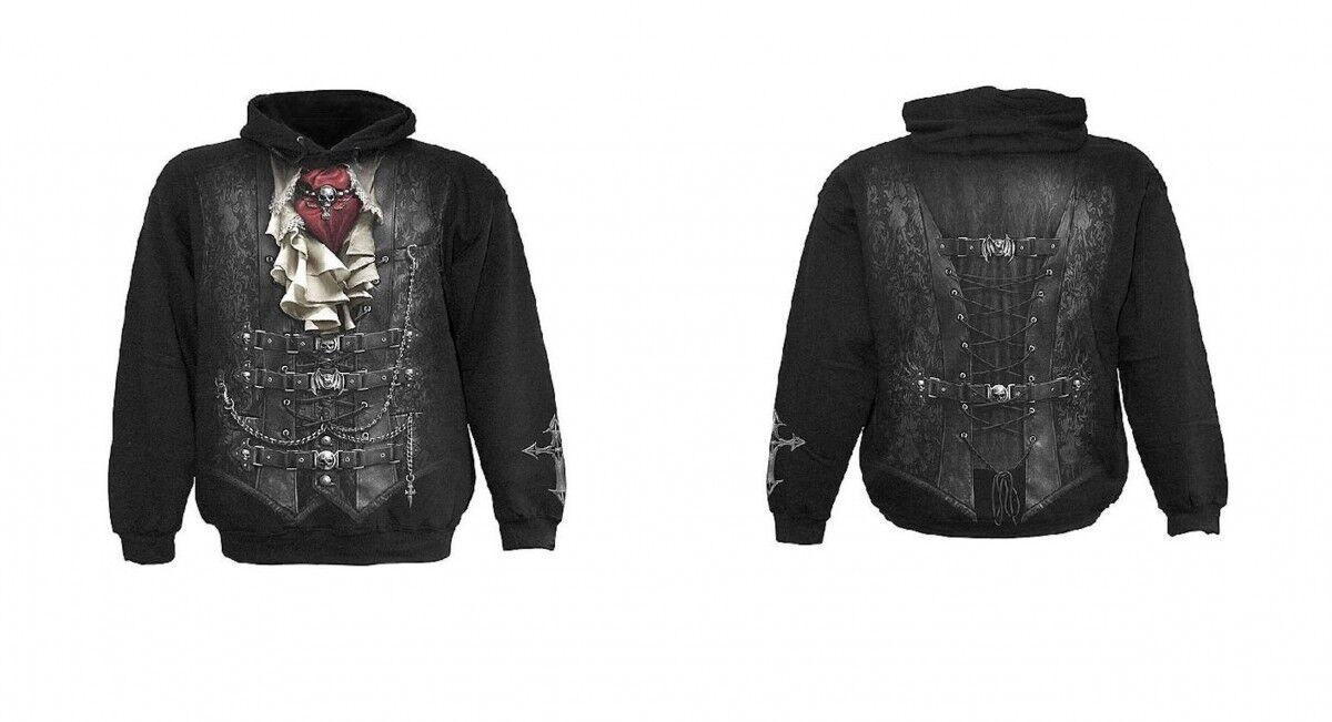 Gothic Steampunk Pirat Vampir Waisted Hoodie Kapuzensweatshirt M L XL XXL