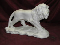 Ceramic Bisque Lion On A Rock Base U-paint Ready To Paint Cat Unpainted