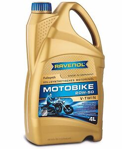RAVENOL V-Twin 20W-50 Motorcycle Oil Full Synthetic – Harley Honda Indian – 4L