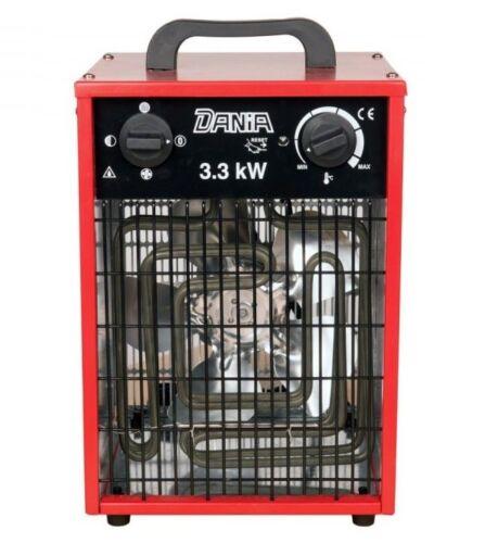 Elektroheizer Dania 3,3kW Elektroheizung Bauheizer Heizlüfter Heizgerät Baulüfte