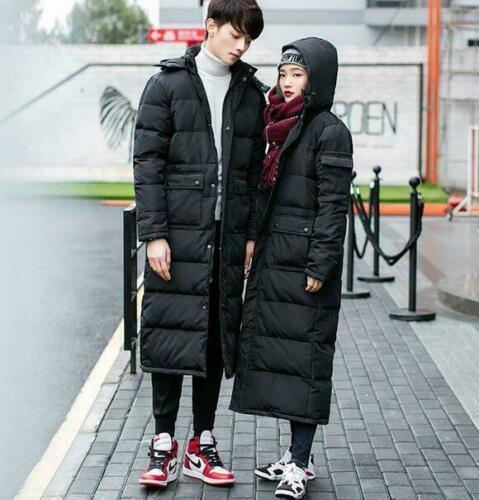 Mens Full Long Hooded Warm Duck Down Winter Parka Coats Jackets Long Style Warm