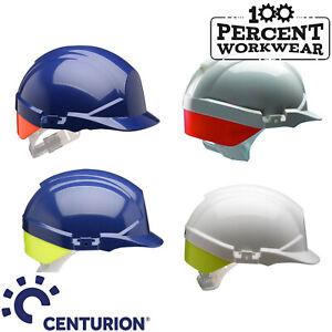 Centurion-Reflex-Work-Safety-Helmet-Hard-Hat-Rear-Flash-Colour-Blue-or-White-New