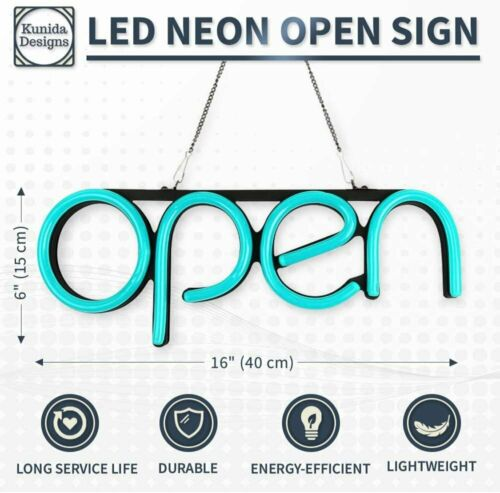 LED Neon Open Sign Light for Business with ON /& Off Switch Lightweight /&...