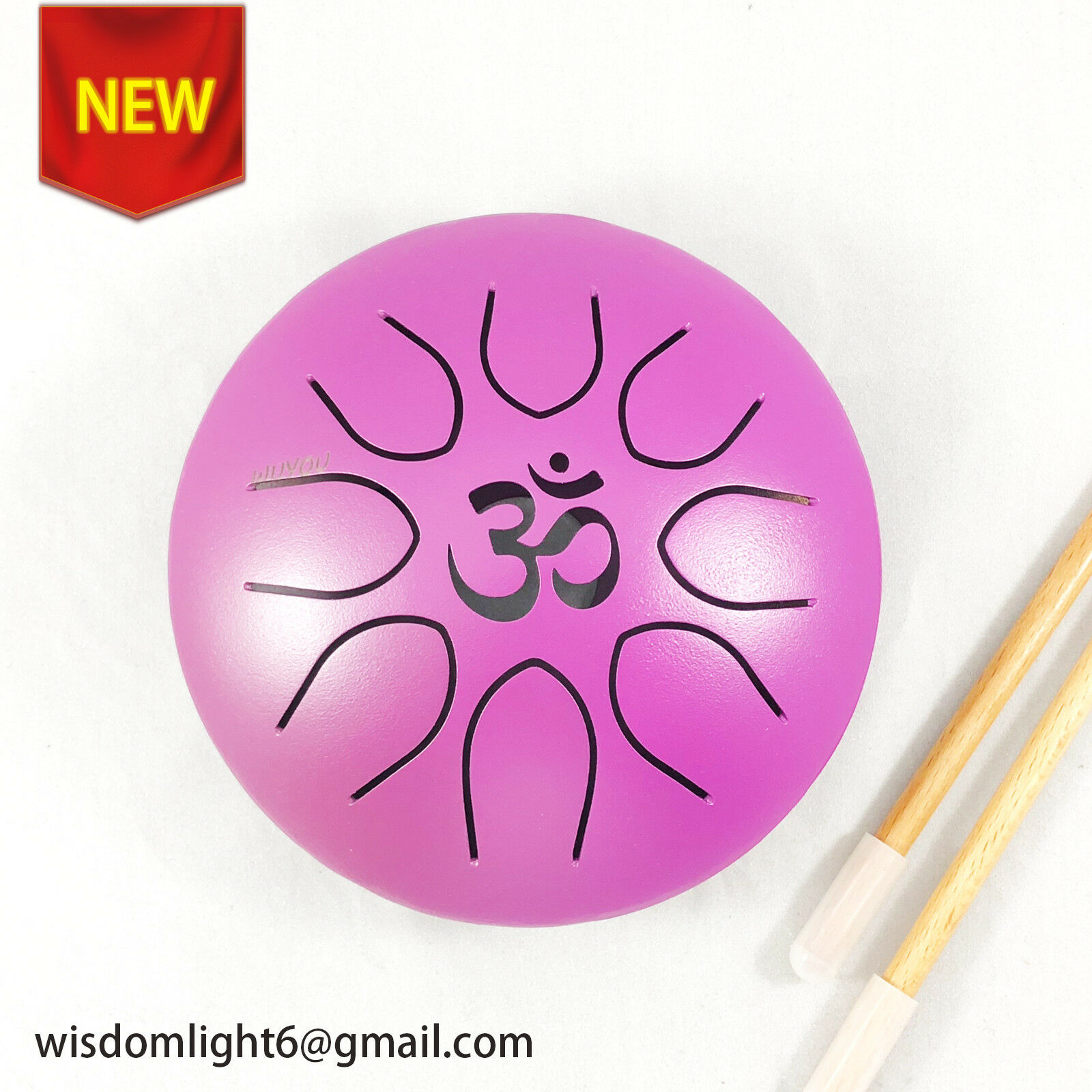 WuYou 7  16cm Steel Tongue Drum Handpan TankHank 8 Tones - Chakra Meditation