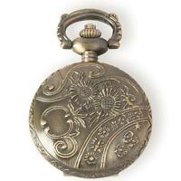 Metal Embellishments / Charms - Small Gold Pocket Watch Locket - Steampunk