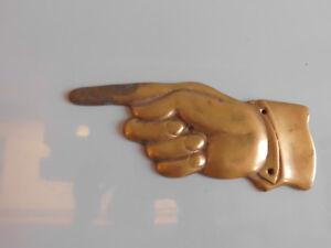 Metallobjekte Hand Wegweiser Zeigefinger Kunsthandwerk Messing Guss 18 Cm Elegant And Graceful