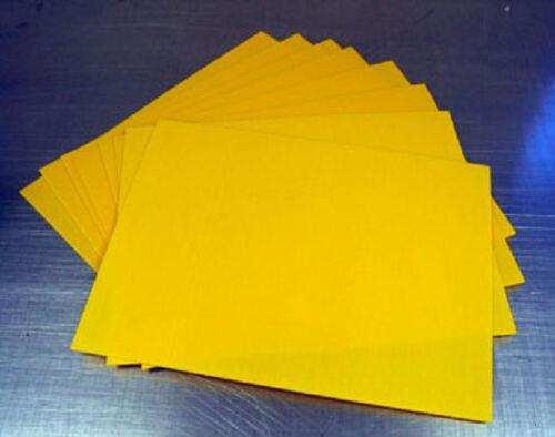 "18/"" x 24/"" 4mm YELLOW corrugated plastic yard bandit road sign blank sheets 50//CS"