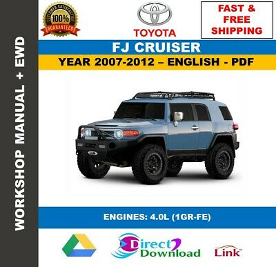Workshop Manual Toyota FJ Cruiser 2007-2012. Includes ...