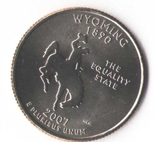Wyoming Statehood 1890 2007-D Quarter US UNC. WY