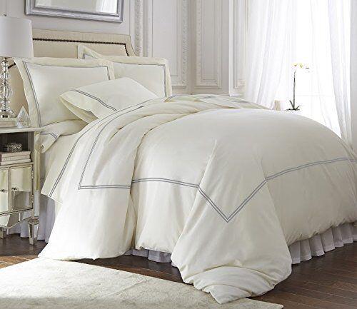 Premium Tencel Cotton Venezia 3pc Duvet Cover Set-Queen King CalKing,3 colors