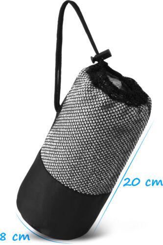 Mikrofaser Frottee Outdoor und Sporthandtuch inkl schnelltrocknend Netzbeutel
