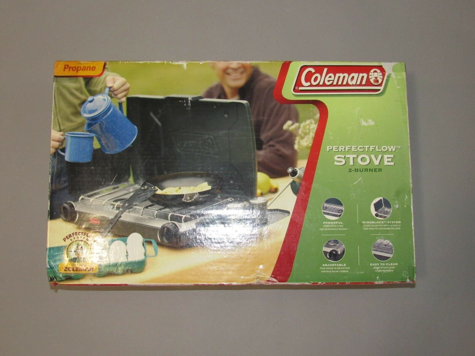 Coleman Perfect Flow 2 Burner Propane Stove Model 5466-700   customers first