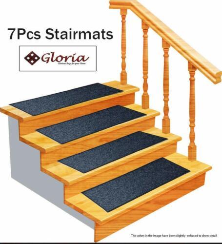 SET OF 7 Gloria Rug Carpet Stair Treads Non Slip Skid Resistant Washable Mat