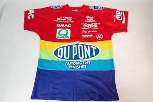 Vintage-90S-DuPont-Nascar-Rainbow-T-Shirt-All-Over-Print-USA-Jeff-Gordon-Mens-M