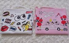 Lot of two kawaii  cute pink and white cross body bags