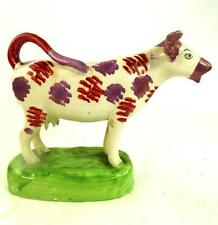19TH CENTURY ANTIQUE BRITISH POTTERY COW CREAMER