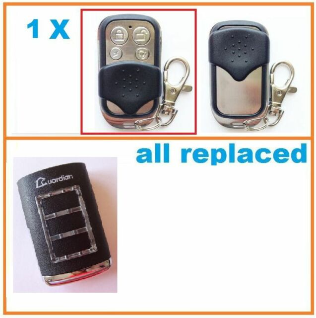 2 X Garage Door Remote Control Compatible With 3 Button Guardian Ht3