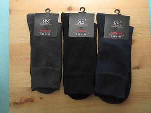Herrenstrümpfe XXL schwarz ohne Gummi Übergröße 47-50 3er Pack oder 6er