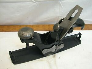 Antique-Stanley-Model-113-Early-Type-Circular-Compass-Plane-Cooper-039-s-Wood-Tool