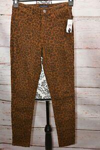Sanctuary Pantalones Para Mujer Marron Negro Pana Pantalones Ajustados Leopardo 26 Ebay