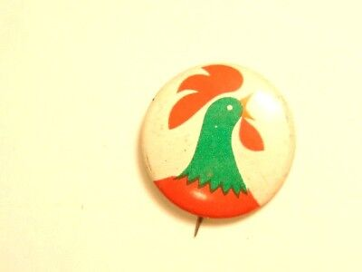 """Vintage Kellogg/'s Cereal Cornelius /""""Corny/"""" Rooster Pinback Buttons."""