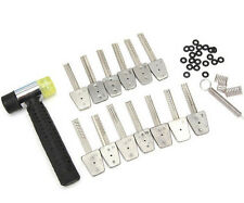 14Pcs Stainless Steel Picks Bit With Hammer Lock Picks Tools Bump Key + GIFT