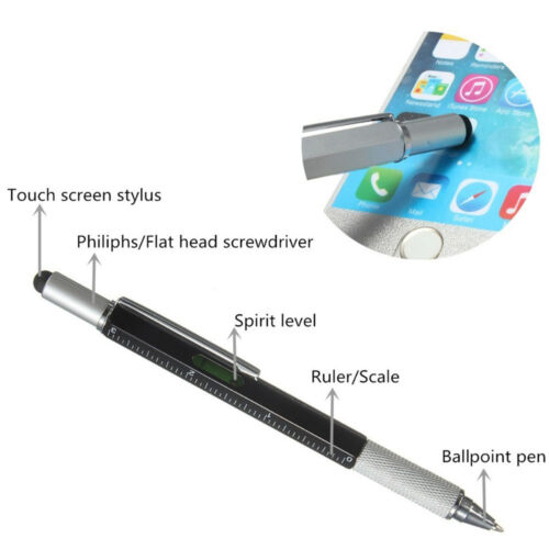 6in1 Touch Screen Capacitive Stylus Ballpoint Pen Screwdriver Multifunction Tool
