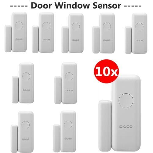 10x Digoo DG-HAMA HOSA Self Adhesive Magnetism Wireless Window Door Alarm Sensor