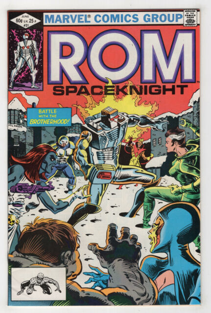 Rom #31 (Jun 1982, Marvel) Spaceknight [2nd Appearance Rogue] Mantlo Buscema X