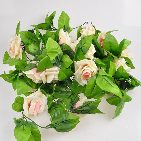 Artificial Fake Silk Rose Flower Ivy Vine Hanging Garland Wedding Home Decor HS9