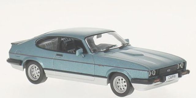 WHITE BOX 247 FORD CAPRI Mk.3 2.8 Injection model road car bluee 1982 1 43rd