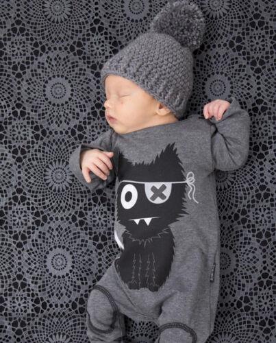 New Baby Girls Boys Longsleeves Hooded One Piece Jumpsuit Romper Newborn 18M
