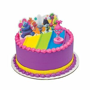 Image Is Loading Trolls Poppy Show Me A Smile Cake Topper