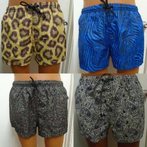 Nwt Zara Man Yellow Blue Green Swimwear Shorts Animal